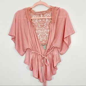 🌷Love By Design | Boho Style Wide Sleeve Tie Top